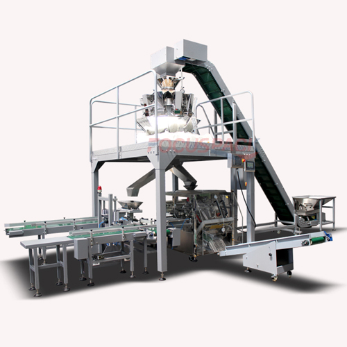 Carton fill-in type simple packaging machine