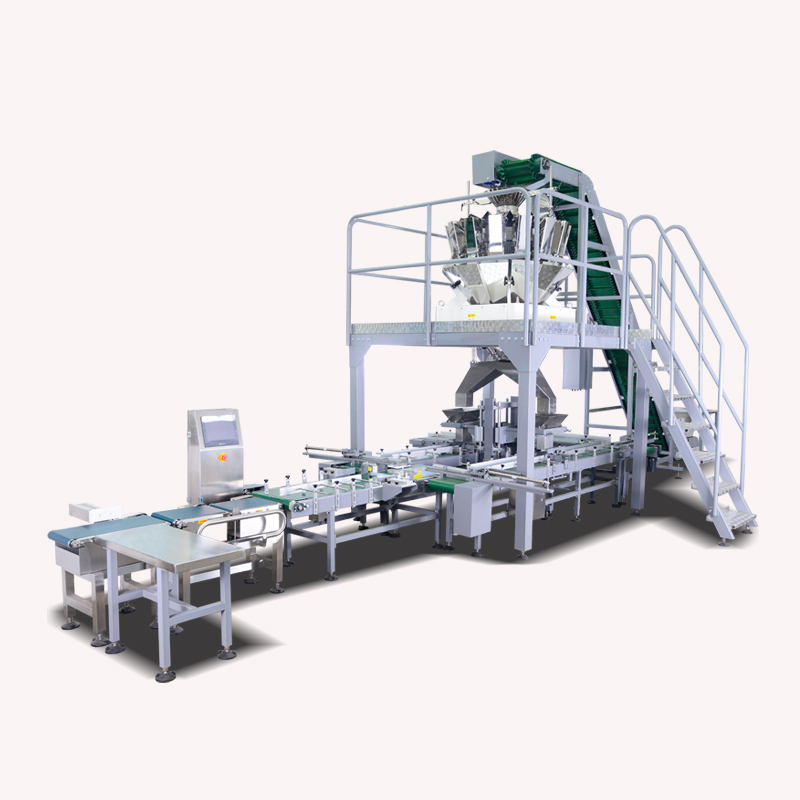 Automatic box packing machine for fastener with 14 heads weigher